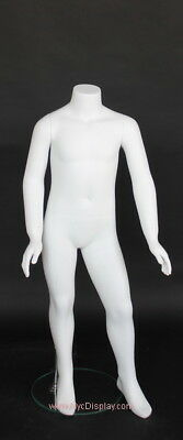 56 Year Kid Child Headless Mannequin 3 Ft 2 In Torso Body Form White Kh04wt-new
