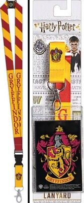 Harry Potter House Of Gryffindor Colors and Name Lanyard with Logo Badge Holder