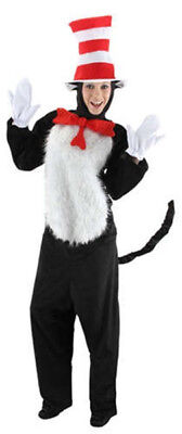 Dr. Seuss The Cat In The Hat Deluxe Adult Costume Kit Small/Medium, New - Cat In The Hat Deluxe Costume