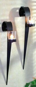 Wandkerzenhalter 2er Set Wandleuchter Teelichthalter Kerzenhalter Kerzen Metall