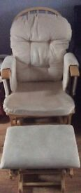 Nursing rocking chair & footstool