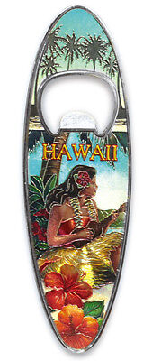 Hawaiian Luau Bottle Opener Metal Vintage Hula Girl Tiki Bar Party Decor NIB - Vintage Luau Decorations