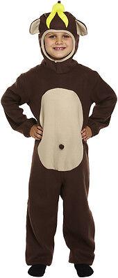 BOYS GIRLS KIDS CHEEKY MONKEY APE ANIMAL FANCY DRESS COSTUME 4-9 YEARS - Kid Monkey Kostüm