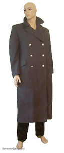 MENS-LONG-GREY-WW2-GERMAN-ARMY-SOLDIER-MILITARY-TRENCH-COAT-FANCY-DRESS-COSTUME