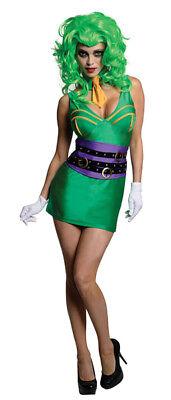 Super Villain Joker sexy dress ladies womens costume Arkham - Women Super Villain Costumes