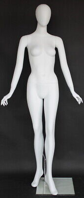 6 Ft Female Abstract Head Mannequin Matte White Standing Mannequin Sfw59e-wt