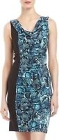 Bcbg blue snakeskin dress