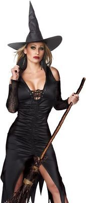 Sexy Witch Adult Halloween Costume Party Outfit Womens Elvira Small / Medium  - Elvira Costumes