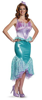Ariel Costume for Women size M & L Deluxe Little Mermaid New by Disguise 85686 (Ariel Costume For Adults)