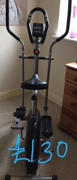 REDUCED - Cross trainer and exercise bike