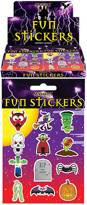 24 Packs Halloween Spooky Stickers Trick or Treat Party Bag - Halloween Spooky Treats Parties