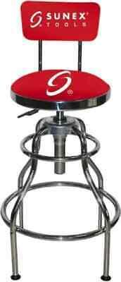 Sunex Tools 33 Inch High Stationary Adjustable Height Stool 25.2 Inch Deep X...