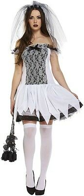 Adults Women's Halloween Party Zombie Bride Fancy Dress Costume UK 8 - 12](Party Halloween Costumes Uk)