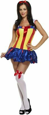 LADIES SEXY SNOW WHITE STUNNING FAIRYTALE PRINCESS COSTUME FANCY DRESS OUTFIT