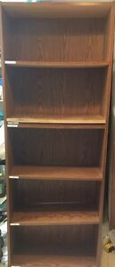 "3 filing or book shelves W24""x D9 .5x H66"