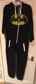 BRAND NEW WITH TAGS FURY BATMAN LOGO MENS ONESIE SIZE M/L