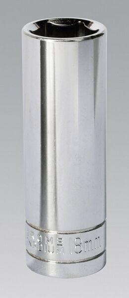 Siegen S0674 Walldrive Socket 18mm Deep 1/2 Sq Drive Chrome Vanadium Steel