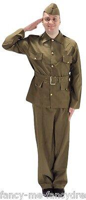 Herren Britisch WW2 Armee Militär Historisch Weltkrieg Kostüm Kleid - Britische Militär Kostüm