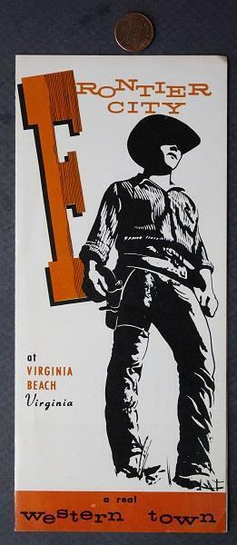 1960-70s Era Virginia Beach Frontier City Wild West Amusement Park brochure-COOL
