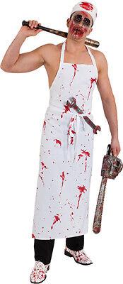 Metzger Halloween-kostüm (Orl - Blut Schürze zum Herren Kostüm blutiger Metzger zu Halloween)