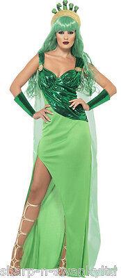 Damen Medusa Römisch Griechische Göttin Monster Halloween Kostüm Kleid Outfit ()
