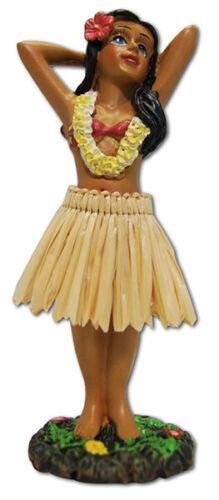 "Dashboard Hula Girl Dancer 4"" Mini Doll Hawaii Aloha Islands Souvenir Hawaiian N"
