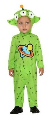 Baby Boys Girls Green Space Alien Halloween Book Day Fancy Dress Costume Outfit - Alien Infant Halloween Costume