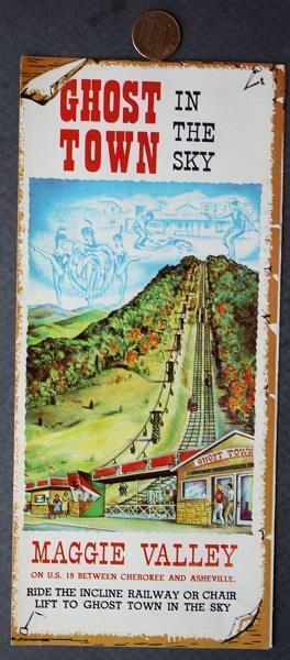 1960-70s Era Cherokee & Asheville North Carolina Ghost Town in the sky brochure!