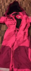 A pink girl Snowsuit