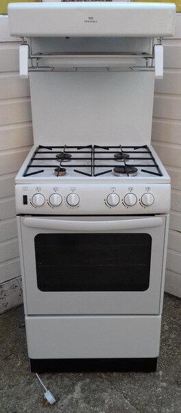 New World Gas Cooker NW55THLG White Model 444440157