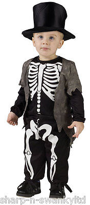 Kleinkind Jungen Smart Skelett Halloween Kostüm Kleid Outfit 2-3 j