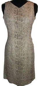 Snakeskin Print Sheath Dress - Size 6 - NEW