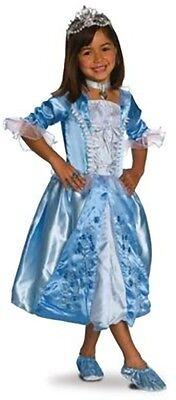 Girls Blue ROSEBUD PRINCESS Costume Dress Tiara Ring Choker Child Medium 8 9 10