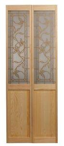 Bifold Door with Ivy Design Glass