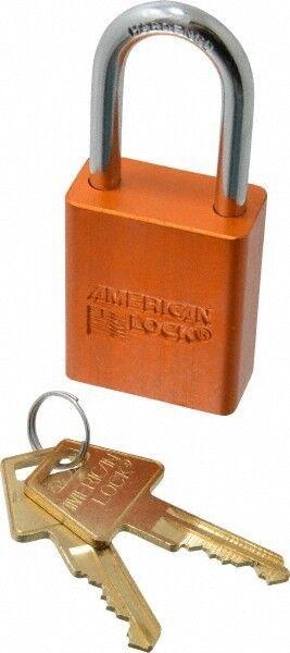 "American Lock Keyed Alike Lockout Padlock 1-1/2"" Shackle Clearance, 1/4"" Shac..."