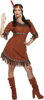 DIAN Adult Fancy Dress Costume Pocahontas Native American (Pocahontas Fancy Dress Kostüm)