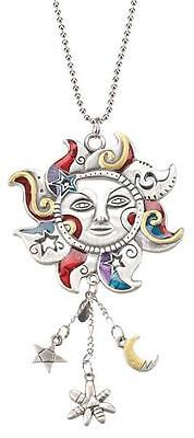 Car Charm - Colorful Celestial Sun - Hang from Your Rear View Mirror!