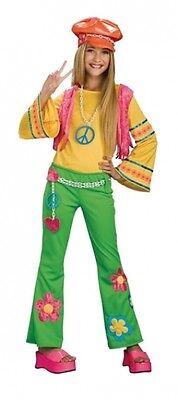 Hippiekostüm - Größe: Teen-M - Hippie Teen Kostüm