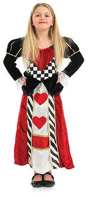 Königin der Herzen Kostüm Alice Im Wunderland Mädchen Kostüm Outfit Neu