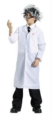 BOYS GIRLS  WHITE LAB COAT CRAZY PROFESSOR DOCTOR COSTUME FW5849  (Crazy Doctor Costume)