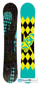 159 wide 5150 Covert snowboard with forum binding good condition