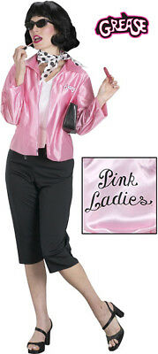 Grease Pink Ladies Satin Adult Womens Jacket Costume Officially Licensed - Pink Ladies Jackets Grease
