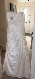 Wedding dress, size 10/12 worn once