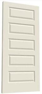 Rockport 5 panel raised primed moulded solid core mdf wood - Solid wood raised panel interior doors ...