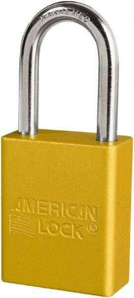 "American Lock Keyed Different Retaining Key Lockout Padlock 1-1/2"" Shackle Cl..."