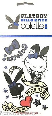 Hello Kitty 40th BD/60th Playboy TEMP TATTOOS from Colette in Paris New Limited