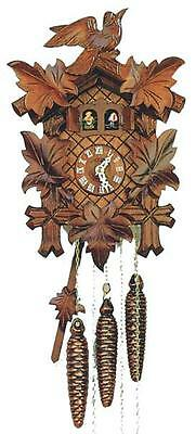 Bird 1 Day Cuckoo Clock - DOLD M16, 5 Leaves. 1 Bird, Musical 1 Day German Cuckoo Clock