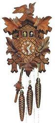 DOLD M16, 5 Leaves. 1 Bird, Musical 1 Day German Cuckoo Clock