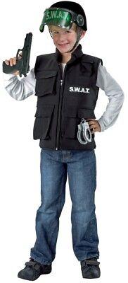 FM - Kinder Kostüm Zubehör Weste SWAT Polizist - Swat Kostüme Zubehör