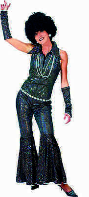 Boogie Night Sequin Jumpsuit 70's Disco Costume for Adults Size S & M ](Womens 70s Disco Fashion)